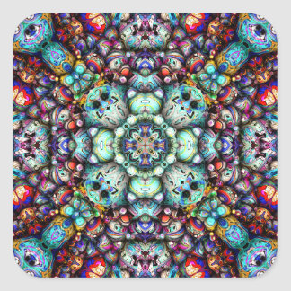 Textural Surfaces of Symmetry Square Sticker