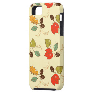 Texture #84 - Colorful Leaf and Nut Pattern   iPhone 5 Cover