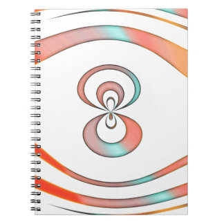 texture  and abstract background spiral notebook