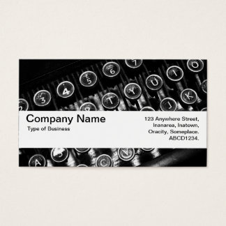 Texture Band V2 - Vintage Typewriter Business Card