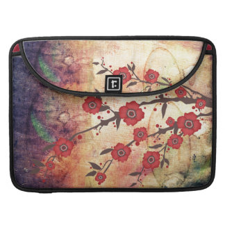 Texture & blossom red sleeve for MacBooks