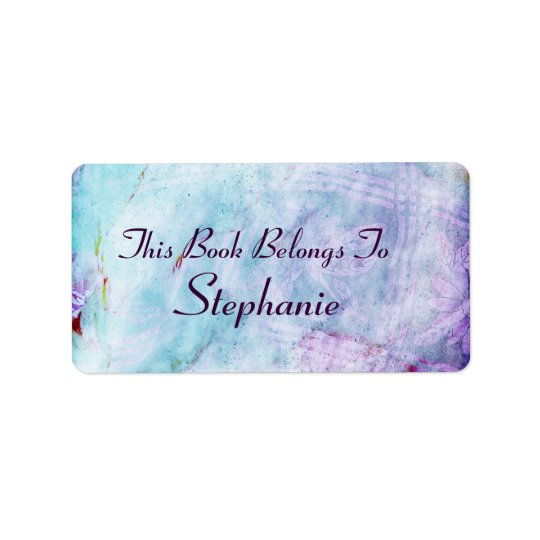 texture Bookplate Address Label