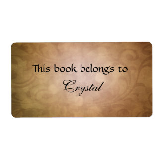 texture bookplate shipping label