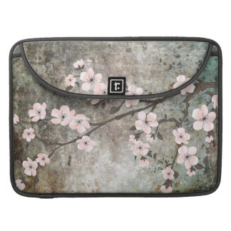 Texture & cherry blossom skin sleeve for MacBook pro