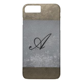 texture gray sepia monogram iPhone 8 plus/7 plus case