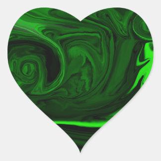 texture green malachite heart sticker
