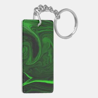 texture green malachite stone key ring