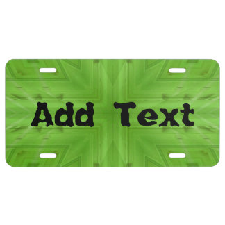 Texture Green wood pattern License Plate