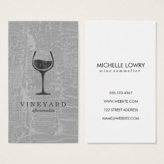 Texture Grey with Wine Glass Business Card