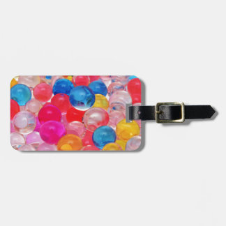 texture jelly balls luggage tag