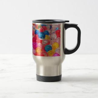 texture jelly balls travel mug