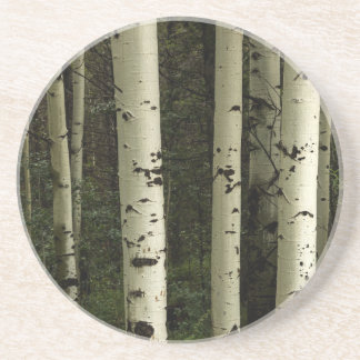Texture Of A Forest Portrait Coaster