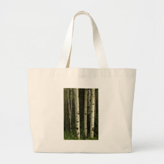 Texture Of A Forest Portrait Large Tote Bag