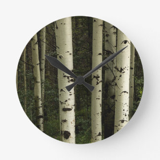 Texture Of A Forest Portrait Round Clock