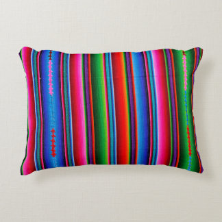 Texture Of Mexican Fabric Decorative Cushion