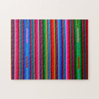 Texture Of Mexican Fabric Jigsaw Puzzle