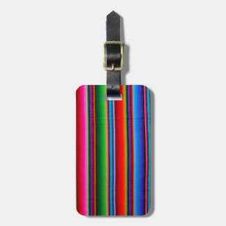 Texture Of Mexican Fabric Luggage Tag