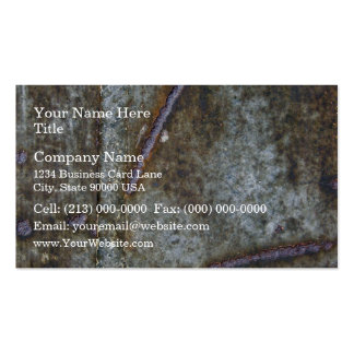 Texture Of Old And Rusty Metal Plate Business Cards