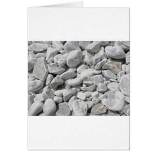 Texture of pebbles from a beach shore card