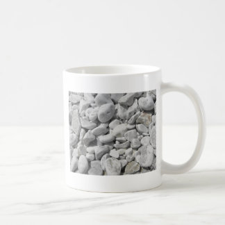 Texture of pebbles from a beach shore coffee mug