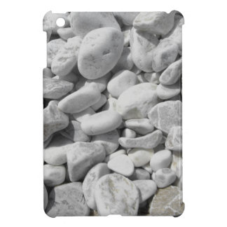 Texture of pebbles from a beach shore iPad mini cases