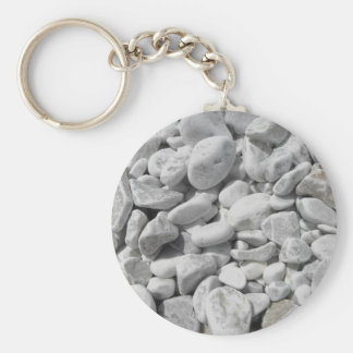 Texture of pebbles from a beach shore key ring