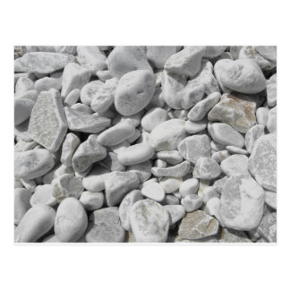 Texture of pebbles from a beach shore postcard