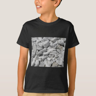 Texture of pebbles from a beach shore T-Shirt