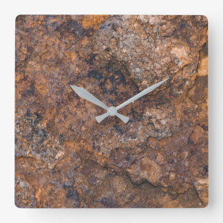 texture of rusty stone square wall clock