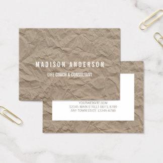 Texture Paper | Minimalist Modern Life Coach Business Card