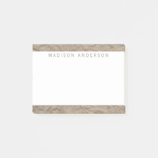 Texture Paper | Minimalist Modern Personalised Post-it Notes