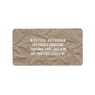 Texture Paper | Minimalist Modern Rustic Design Label