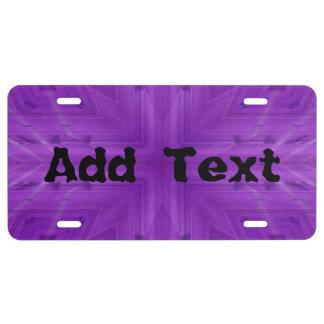 Texture Purple wood pattern License Plate