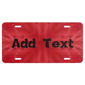Texture Red wood pattern License Plate