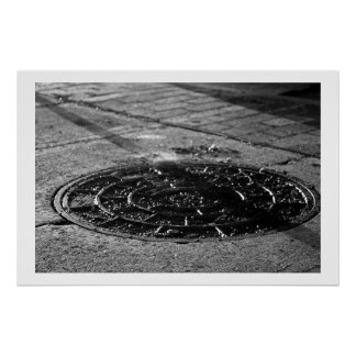 Texture Study of Night-time Sightwalk Poster