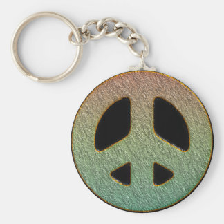 TEXTURE STYLE PEACE SIGN KEY RING