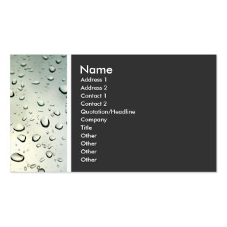 Texture Tone Rain on my Window Business Card Template