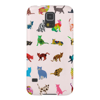 Texture With Colorful Cats Galaxy S5 Covers