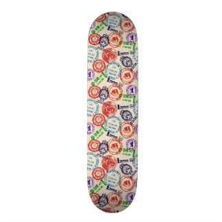Texture with real stamps. skate decks