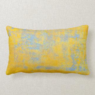 texture yellow lumbar cushion