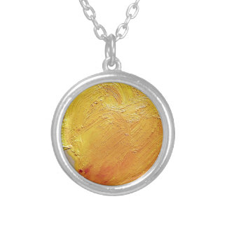Texture yellow paint stain pendant