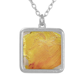 Texture yellow paint stain jewelry