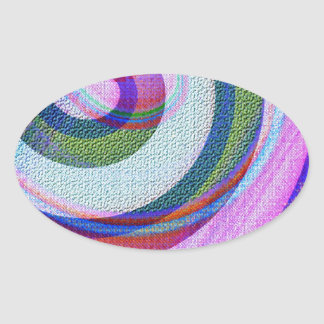 Textured Abstract Oval Sticker