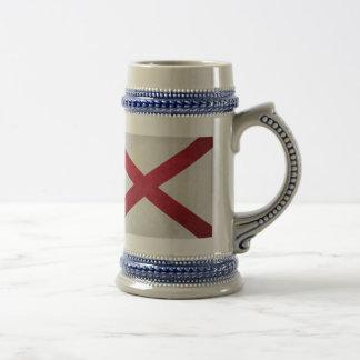Textured Alabama Flag Beer Steins