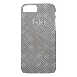 Textured Aluminum Look Faux Metal iphone 7 Case