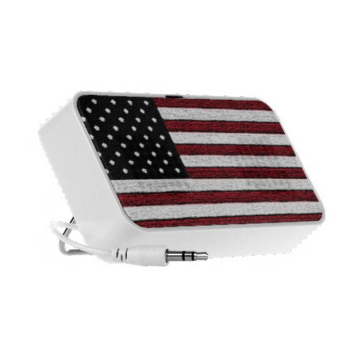Textured American Flag Portable Doodle Speaker