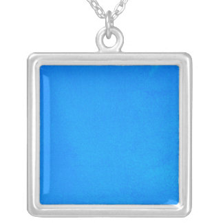 Textured Aqua Silver Plated Necklace