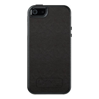 Textured Black Leather Pattern OtterBox iPhone 5/5s/SE Case