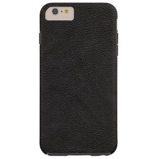Textured Black Leather Tough iPhone 6 Plus Case