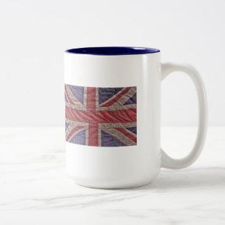 Textured British Flag Mug
